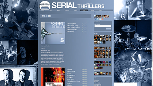 Serial Thrillers Web Site Screenshot
